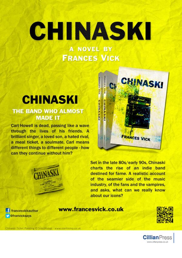 Chinaski a Novel by Frances Vick - Poster